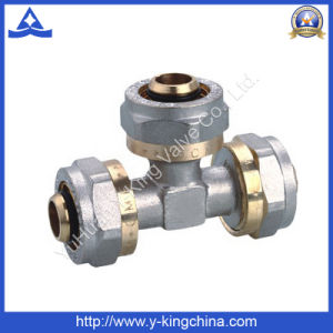 Brass Tee Compression Fitting for Pex Pipe (YD-6057) pictures & photos