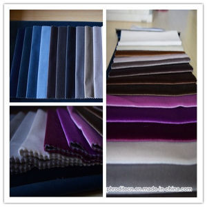 Polyester Velvet Decorative Curtain Fabric pictures & photos