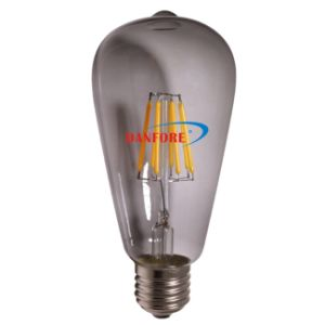 UL ETL DIY E27 St58 Filament LED Lamp Light Bulb with Somked Tint