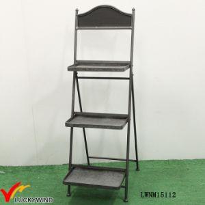 Retro Industrial 3 Tier Decorative Metal Foldable Shelf pictures & photos