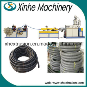 High Quality PE/PVC Single-Wall Corrugated Pipe Making Machine pictures & photos