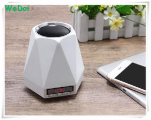 New Multifunctional Alarm Clock Wireless Bluetooth Speaker with LED Light (WY-SP03) pictures & photos