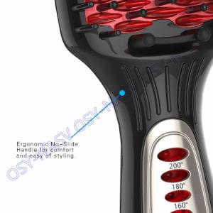 2016LED Temperature Control Paddle Hair Straightener Brush Comb pictures & photos