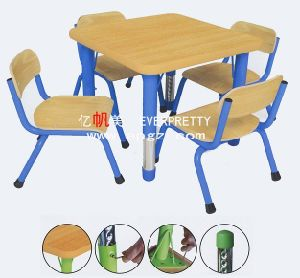 4-Seaters Red Plastic Table and Chair for Kids (SF-17K-5) pictures & photos