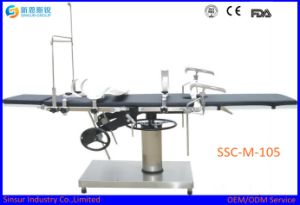 ISO/CE Approved High Quality Fluoroscopic Hospital Use Manual Operating Table pictures & photos