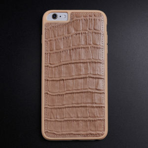 Flat Crocodile Pattern Genuine Leather Case for iPhone 6/6s