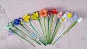Zibo Boshan Decoration Murano Style Handmade Glass Flower