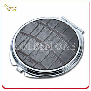 Fashion Chrome Plated Make up Mirror with Leather Cover pictures & photos