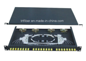 19 Inch FTTB St Fixed Fiber Optic Terminal Box with 12port Simplex pictures & photos