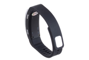 Black Fashion Digital Voice Recorder Bracelet Wristband 8GB Dictaphone for Class Sports Lectures Interviews pictures & photos