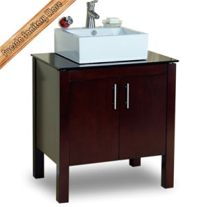 Fed-1176 Above Mounted Sigle Basin Free Standing Solid Wood Modern Bathroom Vanities pictures & photos