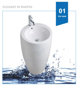 Weidansi Ceramic Wash Pedestal Basin Wash Sink (WDS-P7102) pictures & photos