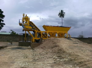 Yhzd50 Mobile Batching Plant, Portable Concrete Mixing Plant pictures & photos