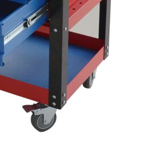 26-Inch Professional 6 Drawer Auto Parts Rolling Tool Cabinet (Blue and Red) pictures & photos