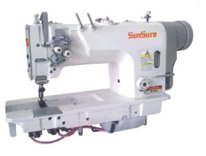 High Speed Direct Drive Double Needle Sewing Machine (mirco oil) pictures & photos
