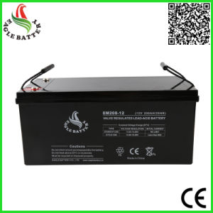 12V 200ah Maintenance Free Lead Acid Battery for Solar System