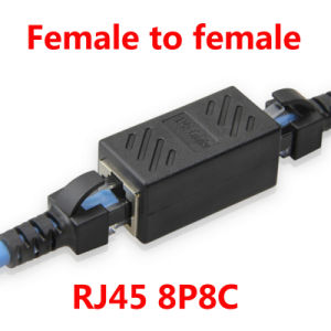 RJ45 Network Cable Extender Plug Coupler Joiner Splitter Connector Adapter pictures & photos