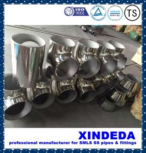 Pipe Fittings Stainless Steel Equal Tee Surface Polishing ANSI B16.9 pictures & photos