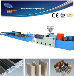 WPC PP PE Profile Extruder (100% recycled PP PE mateial) pictures & photos