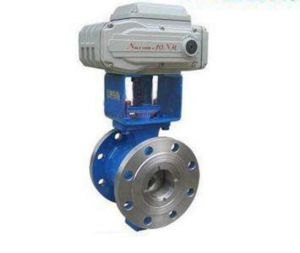 V Type Adjustable Regulating Globe Ball Valve pictures & photos