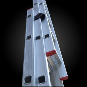 Hot Sale Aluminum Ladder Rope Control Extended Fire Escape Ladder pictures & photos