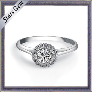 White Cubic Zirconia 925 Sterling Silver Female Ring pictures & photos
