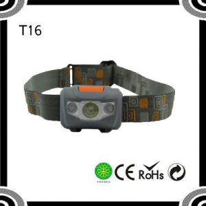 Poppas T16 New Promotion with 4 Brightness Level 2PCS Red LED + 1W High Power Red LED Headlamp pictures & photos