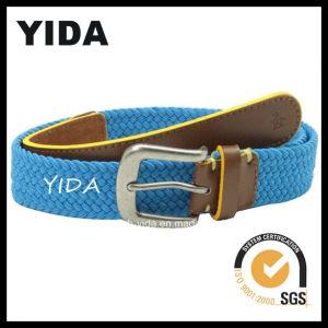 Fashion Blue Wide Webbing Woven Belt for Men (YD-15048)