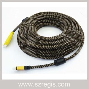 Oxygen-Free Copper Knit Cable Engineering Professional V1.4 HDMI-HDMI Cable pictures & photos