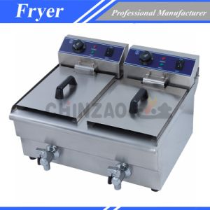 Industrial Twin Tank Electric Deep Fryer Dzl-34V pictures & photos
