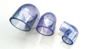 Transparent PVC Elbow Clear PVC Elbow UPVC Elbow Pipe Fittings with Size Dn15-Dn100 for Water Treatment