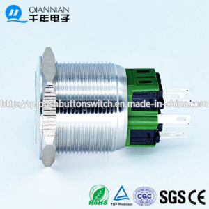 Qn25-A3 25mm Character Illuminated Type Momentary|Latching Flat Head Pin Terminal Metal Push Button Switch pictures & photos
