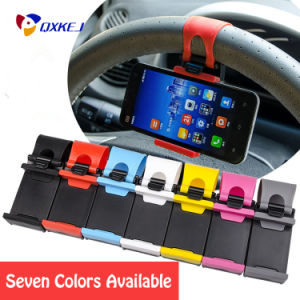 Colorful Steering Wheel Phone Holder for Cars Quality Plastic Stand for Cell Phone GPS Mount Retractable Cradle Bracket pictures & photos