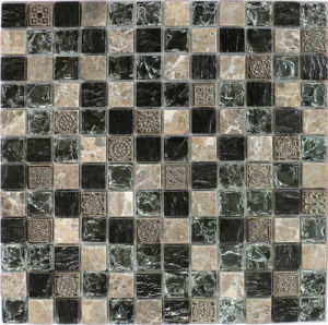 25*25 Crackle Crystal Glass Tiles Mosaic for Wall pictures & photos