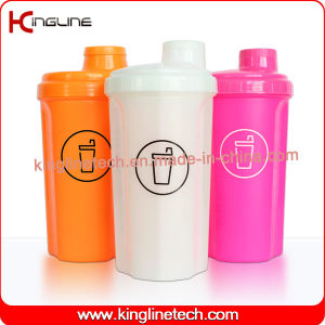 700ml Plastic Protein Shaker Bottle with Lid, BPA Free (KL-7028) pictures & photos