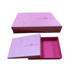 fashion Pink Handmade Manual Rigid Cardboard Box for Jewellery/Jewelry