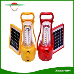 Adjustable Brightness Outdoor Solar Hand Lamp / Portable 35 LEDs Solar Camping Lantern pictures & photos
