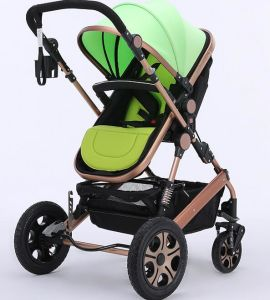 2016 Aluminium Alloy Baby Stroller Earthquake Proof En1888 pictures & photos