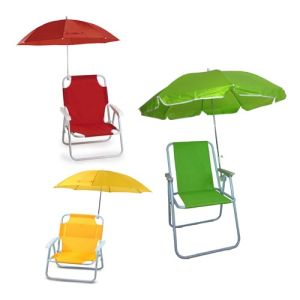 Hot Sell Branded Kids Folding Beach Chair with Umbrella Plastic Arm (SP-141) pictures & photos