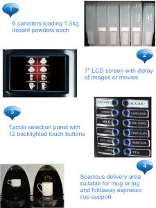 12-Selection Deluxe Instant Coffee Vending Machine pictures & photos