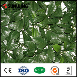 China Manufacturers Fresh PE Artificial Green Outdoor Shrubs Leaves