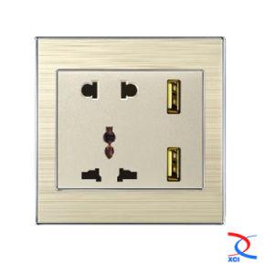 2/3pin 2USB Wall Socket