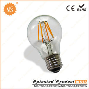 Ce RoHS A60 800lm Ra90 8W Filament Global Bulb LED Lamp pictures & photos