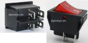 Red Button on-off 4 Pin Dpst Boat Rocker Switch for 16A 250V 20A 125V AC Voltage pictures & photos
