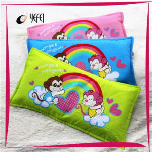 Monkey Printed 100%Cotton Latex Memory Foam Travel Bed Pillow