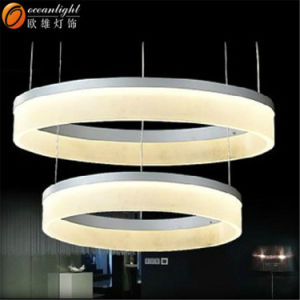 White Painted Modern Acrylic Circle Pendant Light Oxd8815 pictures & photos