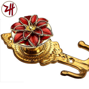 Zinc Alloy Beautiful Window / Curtain Hook with Color Crystal (ZH-8613) pictures & photos