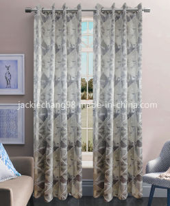 Jacquard Grommet Panel Window Curtain (HR14WT173) pictures & photos