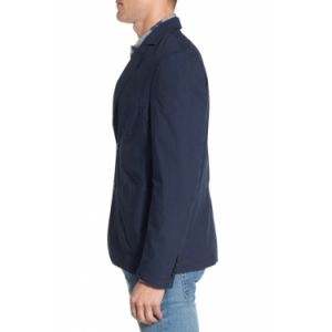 Made to Measure Light Weight 100% Cotton Navy Fabric Casual Blazer Jacket Men′s Sportswear (SUIT7504) pictures & photos