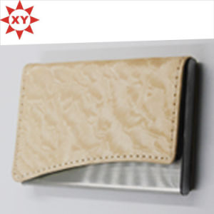 Promotion Cream-Coloured Leather Name Card Business Card Holder pictures & photos
